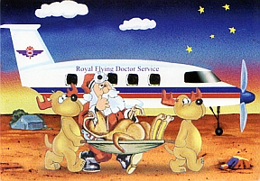 Australian christmas greeting cards explained royal flying doctor service of australia m4hsunfo