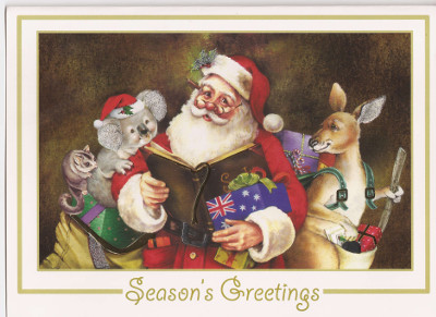 Australian christmas greeting cards explained santa in australia m4hsunfo Choice Image