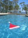 Santa in the pool
